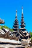 Monastério de madeira de Nat Taung Kyaung Bagan myanmar Imagem de Stock Royalty Free