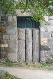 Monastério de madeira fechado velho de Tatev da porta (vanq), Armênia, Hayastan Imagem de Stock