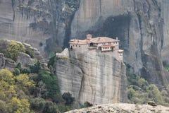 Monastério de Meteora em Grécia, milagre Imagens de Stock Royalty Free