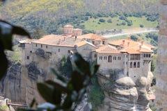Monastério de Meteora em Grécia, milagre Imagens de Stock