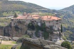 Monastério de Meteora em Grécia, milagre Fotografia de Stock Royalty Free