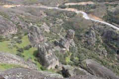 Monastério de Meteora em Grécia, milagre Imagem de Stock Royalty Free