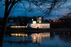 Monastério de Mirozhsky em Pskov, Rússia Foto de Stock