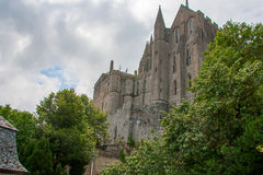 Monastério de Mont St Michel fotos de stock royalty free