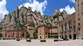 Monastério de Montserrat imagens de stock royalty free