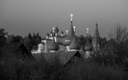 Monastério de Nicolo Trinity da vista e a catedral do aviso Gorokhovets A região de Vladimir Do fim de setembro de 2015 Imagens de Stock