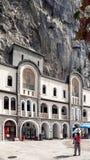 Monastério de Ostrog, Montenegro imagem de stock