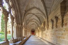 Monastério de Poblet da Espanha, em Catalonia foto de stock royalty free