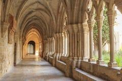 Monastério de Poblet da Espanha, em Catalonia fotos de stock