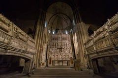 Monastério de Poblet, Tarragona, Espanha foto de stock royalty free