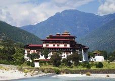 Monastério de Punakha em Butão Foto de Stock Royalty Free