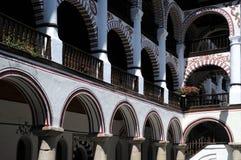 Monastério de Rila do close up fotos de stock