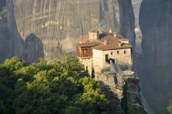 Monastério de Roussanou em Meteora Imagens de Stock Royalty Free