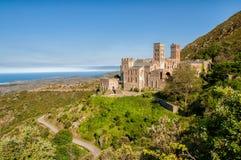 Monastério de Sant Pere de Rodes em EL Porto de la Selva, Girona, Espanha imagens de stock royalty free