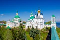 Monastério de Spaso-Yakovlevsky e catedral de Zachatievsky em Rostov, oblast de Yaroslavl, Rússia Fotos de Stock