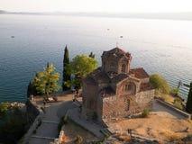 Monastério de St John em Kaneo, Ohrid, Macedônia imagens de stock
