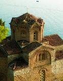Monastério de St John em Kaneo, Ohrid, Macedônia imagens de stock royalty free