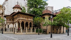Monastério de Stavropoleos Fotografia de Stock