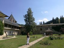 Monastério de Sucevita Fotos de Stock