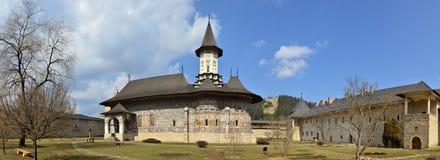 Monastério de Sucevita - herança romena do UNESCO fotografia de stock royalty free