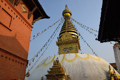Monastério de Swayambhunath, Nepal foto de stock royalty free