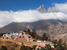 Monastério de Tengboche, o melhor monastério em Khumbu Foto de Stock Royalty Free