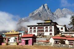 Monastério de Tengboche, o melhor monastério em Khumbu Imagens de Stock Royalty Free