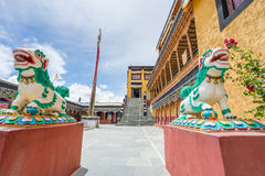 Monastério de Thiksey, Leh, Índia norte fotografia de stock royalty free
