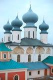 Monastério de Tikhvin Fotografia de Stock