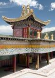 Monastério de Tongren ou monastério de Longwu imagem de stock royalty free