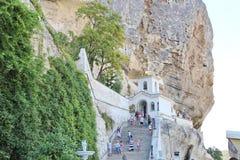 Monastério de Uspenskiy em Crimeia perto de Bakhchisarai imagem de stock royalty free