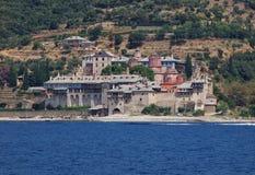 Monastério de Xenophontos em Athos Mount, Grécia Foto de Stock Royalty Free
