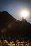 Monastério de Yumbu Lhakhang em Tsedang, Tibet Fotografia de Stock