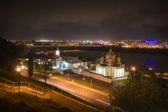 Monastério do aviso, Nizhny Novgorod, Rússia fotos de stock