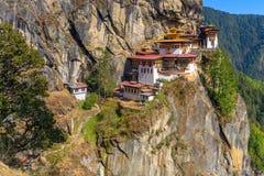 Monastério do ninho do ` s do tigre, Paro Taktsang imagem de stock royalty free