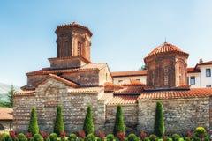 Monastério do St Naum, lago FYR Macedónia Ohrid Fotos de Stock Royalty Free