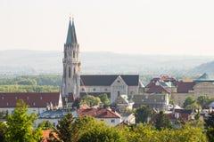 Monastério e igreja de Stift Klosterneuburg Imagem de Stock Royalty Free