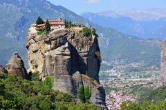 Monastério em Meteora, Greece imagens de stock