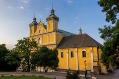 Monastério Franciscan amarelo imagem de stock