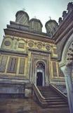 Monastério/igreja ortodoxos romenos Foto de Stock Royalty Free