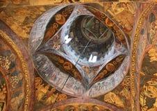 Monastério interno, Romênia de Voronet Fotos de Stock Royalty Free