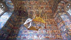 Monastério interno, Romênia de Voronet Imagem de Stock Royalty Free