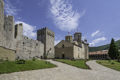 Monastério Manasija foto de stock