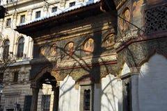 Monastério Manastirea Stavropoleos de Stavropoleos Imagem de Stock