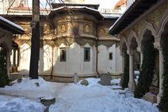 Monastério Manastirea Stavropoleos de Stavropoleos Fotografia de Stock Royalty Free