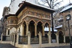 Monastério Manastirea Stavropoleos de Stavropoleos Fotografia de Stock