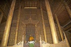 Monastério Mandalay de Shwe Nandaw Kyaung Fotografia de Stock Royalty Free