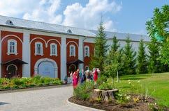 Monastério masculino de Ipatievsky da trindade santamente, Kostroma, anel dourado de Fotografia de Stock Royalty Free