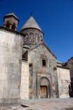 Monastério medieval da rocha de Geghard ou de Ayrivank, Armênia Fotografia de Stock