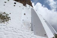 Monastério na ilha de Amorgos, Grécia Fotografia de Stock Royalty Free